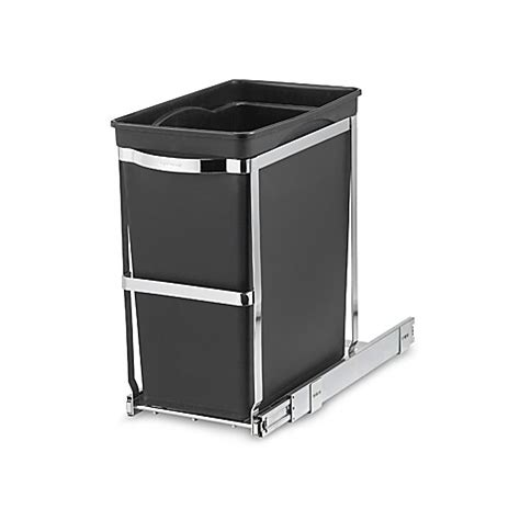 bed bath and beyond simplehuman trash can simplehuman 174 commercial grade 30 liter pull out trash can