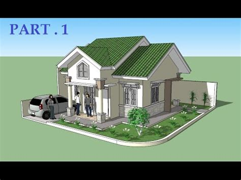 home design using sketchup sketchup tutorial house design part 1 youtube