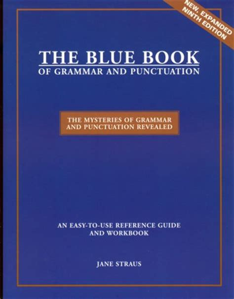 the blue book of grammar and punctuation an easy to use guide with clear real world exles and reproducible quizzes librarika the blue book of grammar and punctuation 9th