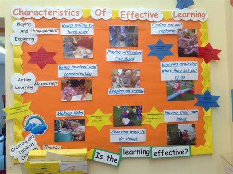 bulletin board design for home economics display showing exles of the characteristics of
