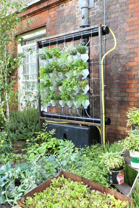 homemade vertical hydroponic garden