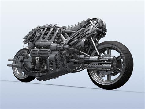 Motorrad I Robot by Terminator Robot Motorcycle 3d Model