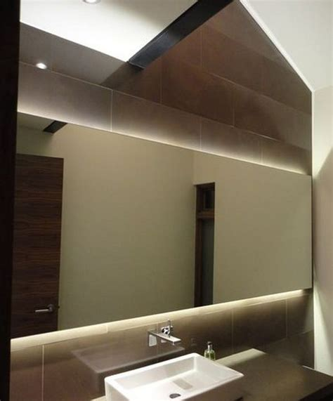 Bathroom Mirror With Lights Behind | rise and shine bathroom vanity lighting tips