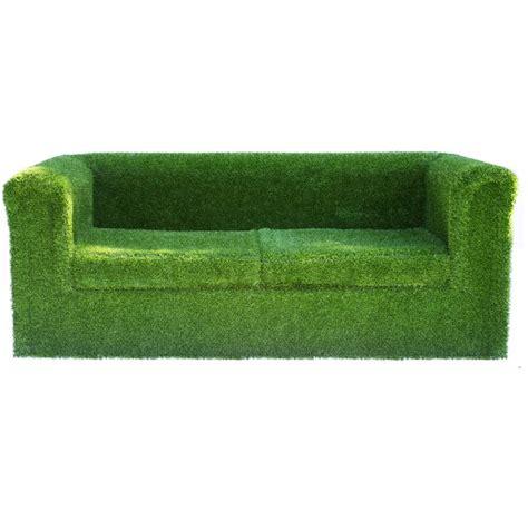 grass couch artificial grass garden sofa by artificial landscapes
