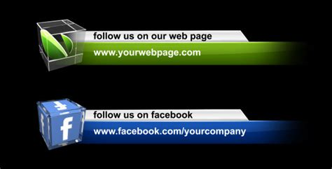 lower third templates for photoshop videohive social media lower third pack free download