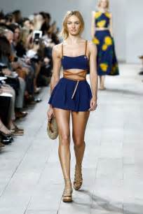 Wardrobe In Fashion Shows by Candice Swanepoel At Runway Of Michael Kors Fashion Show