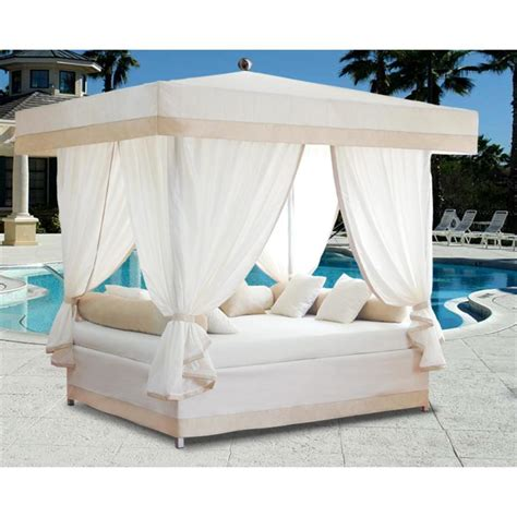 pool beds exterior terrific white sheer curtain in white sheet canopy bed pool side for
