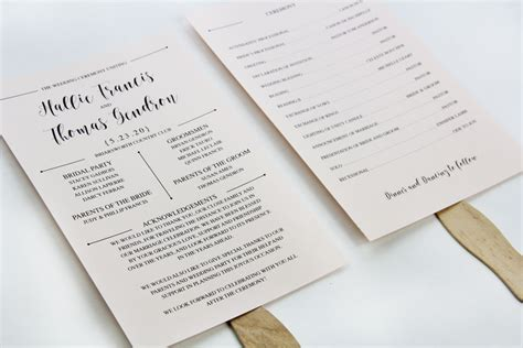 paper fan wedding programs 3 steps to a stylish wedding program fan lci paper