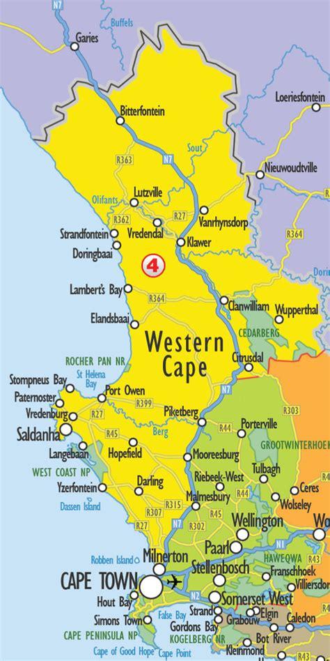 map of west coast search by map weskus wegbreek