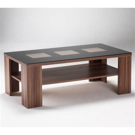 Modern Black Coffee Table Trias Walnut Black Modern Coffee Table 4010 18 Ebay
