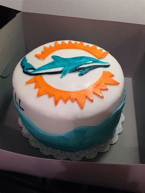 25 best ideas about miami dolphins cake on