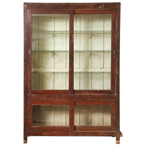 Glass Front Bookcases glass front indian bookcase at 1stdibs