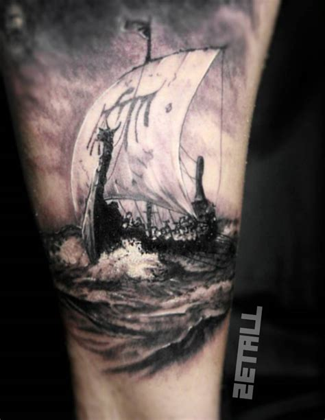 vikings tattoos viking ship on the inner arm inner arm tattoos