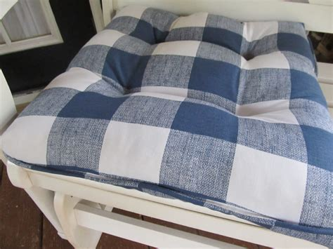 navy and white chair cushions country chair cushion in navy blue and white by cottageaccent