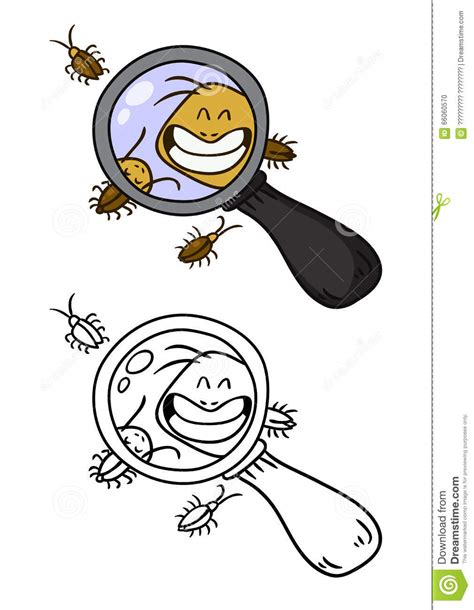 doodlebug infestation cockroaches doodle stock vector image 66060570