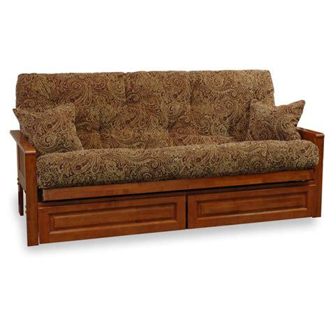 free futon frame ritz wood futon frame set with free pillows dcg stores