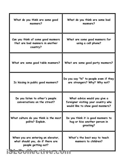 Table Manners Worksheet by 16 Best Images Of Table Manners Worksheets Pdf Table