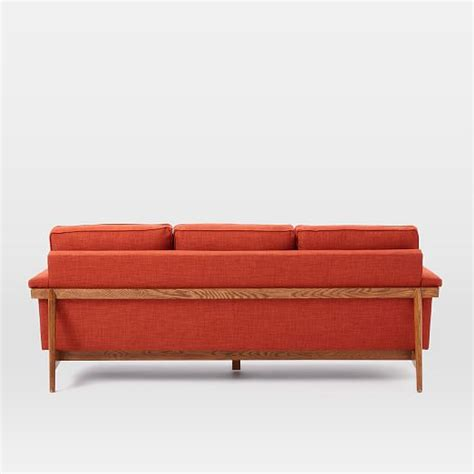 sofa wood frame leon wood frame sofa 82 quot west elm
