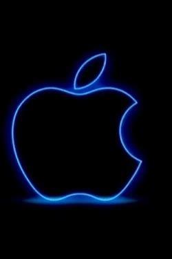 wallpaper apple neon wallpaper of neon apple logo for iphone