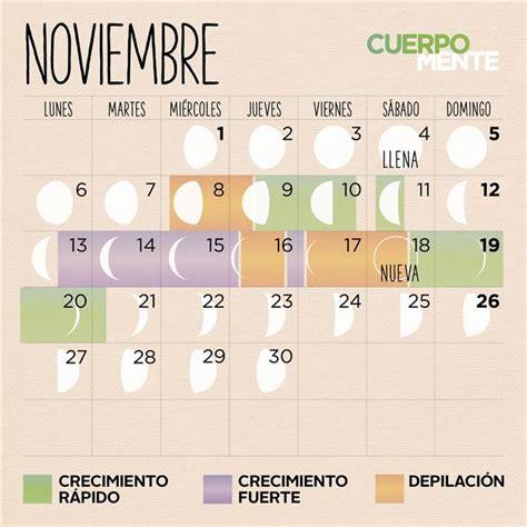 Calendario 2017 Noviembre Calendario Lunar De Noviembre 2017