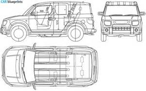 Honda Element Length Car Blueprints Honda Element Blueprints Vector Drawings
