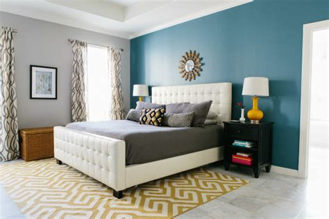 Painting One Wall A Different Color In A Bedroom by Master Bedroom Reveal With Minted Design Improvised