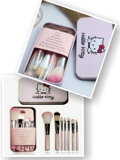 Kuas Make Up Kosmetik Hk Hello Travel Brush Set Helo Kity Kaleng jual hello mini makeup brush set bens kosmetik