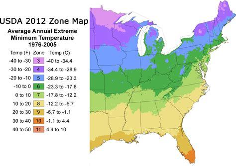 Transplant Nursery, Inc.  USDA Zone Map (1990)