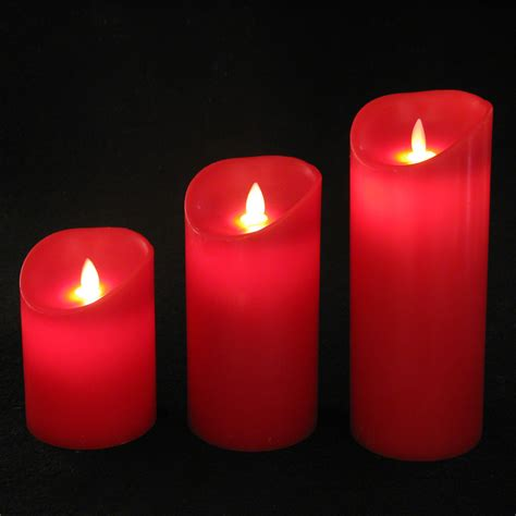 dancing flame candles red flameless battery operated