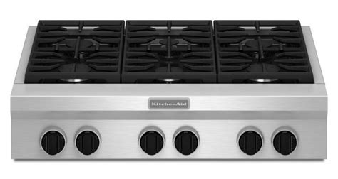 Slide In Cooktop Kitchenaid 36 Quot Gas Rangetop Review Rating Kgcu467vss