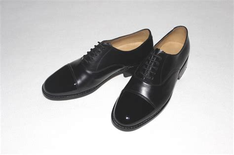 toe cap oxford shoes oxford shoes plain black leather with patent leather toe