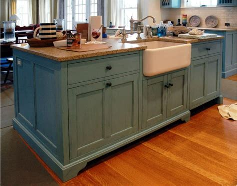 kitchen island sink ideas rustic blue kitchen island with farmhouse sink design ideas pictures