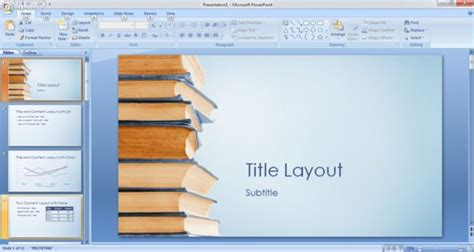 Free Bookstack Powerpoint Template Free Powerpoint Templates Book Report Powerpoint Template