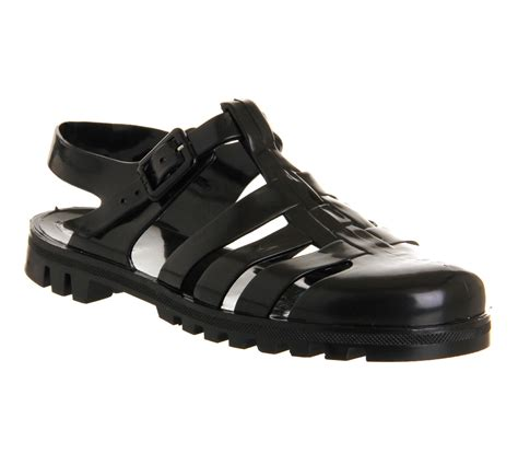 mens jelly sandals mens juju maximan jelly black sandals fisherman style