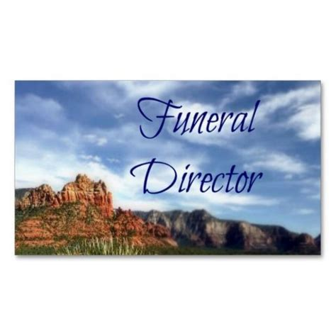 usda forest service business card template funeral director scenic desert background business card