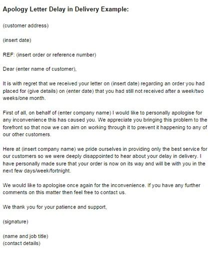 business apology letter late delivery business letter apology for delay the best letter sle
