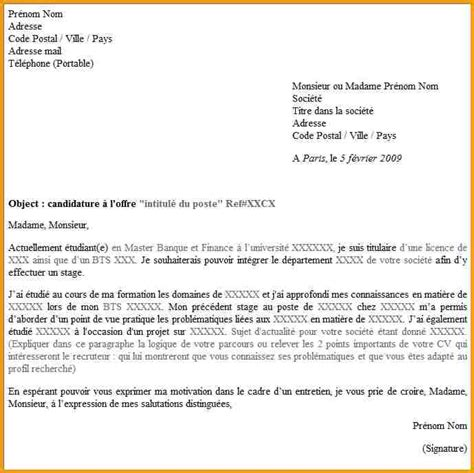 Exemple De Lettre De Motivation ã Tudiant Supermarchã 10 Lettre De Motivation Modele Lettre Administrative