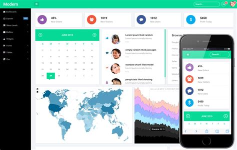 26 bootstrap admin templates for dashboard free premium