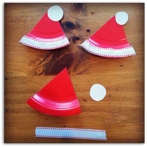 How To Make Santa Hats Out Of Paper - on santa craft paint a sign painting