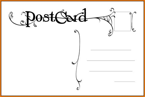 postcard back design template www pixshark com images