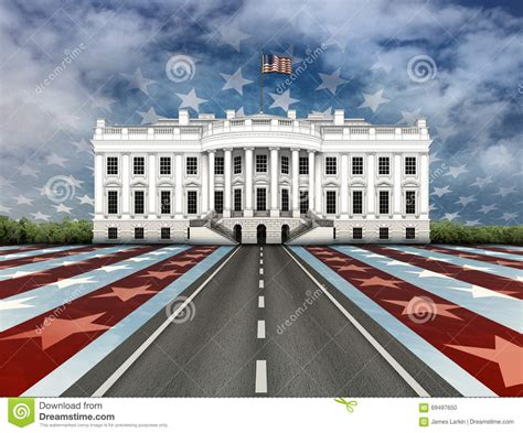 road to white house road to the white house stock illustration image 69497650