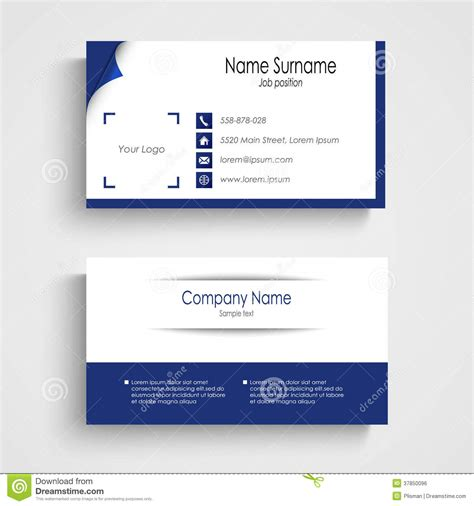 pale blue business card template free modern blue light business card template royalty free