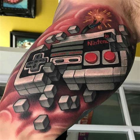 nintendo gamepad tattoo  tattoo ideas gallery