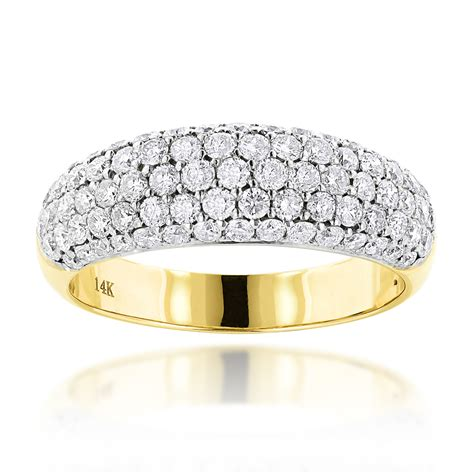 Pave Ring by Pave Rings 14k Gold Wedding