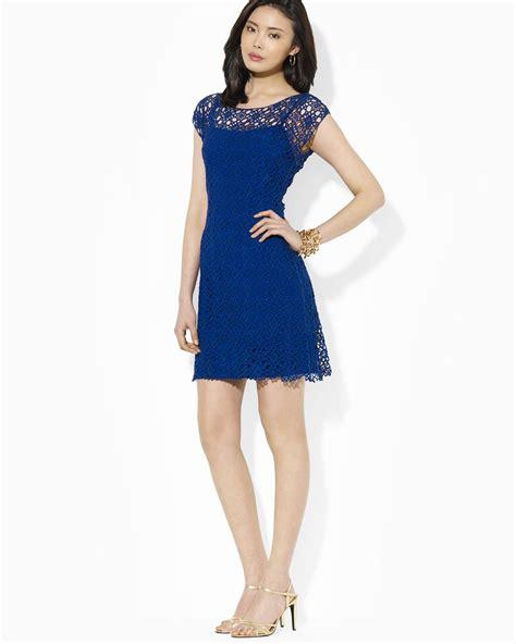 Lawren Dress ralph dress cap sleeve lace illusion