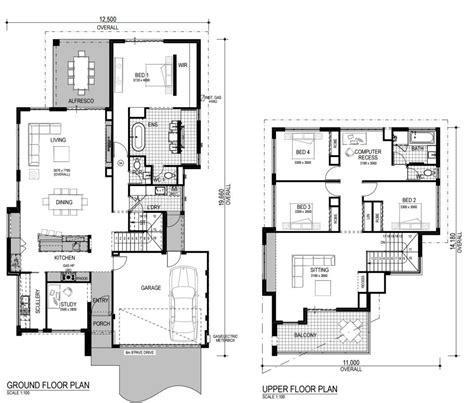 pisos en construccion planos de casas de dos pisos modernas