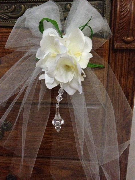 Church Pew Bows Aisle Decorations by Church Pew Decoration