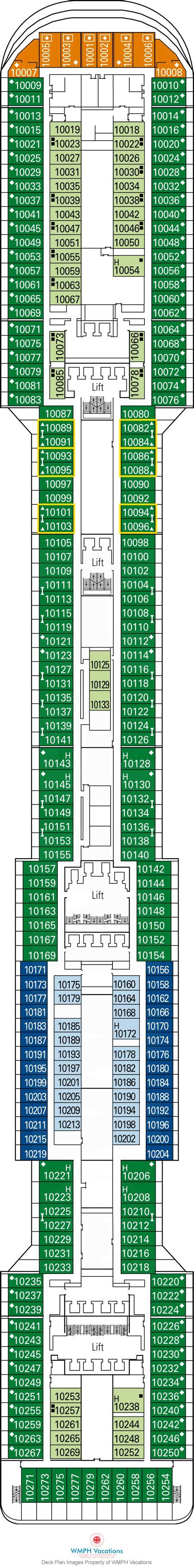 msc divina floor plan msc divina deck plans deck 10 what s on deck 10 on msc