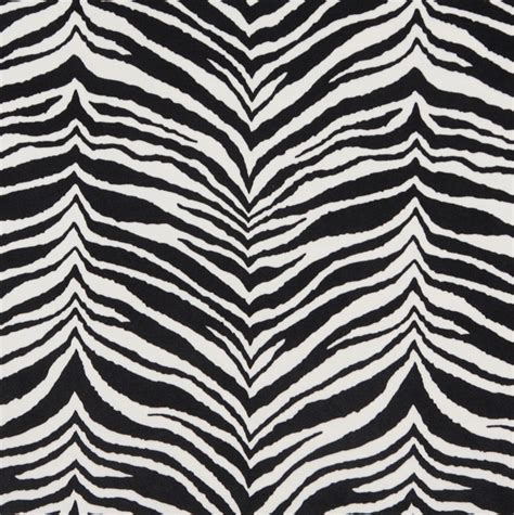 E415 Zebra Animal Print Microfiber Fabric Contemporary