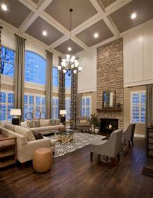 High Ceilings high ceiling windows living room rustic with mountain home